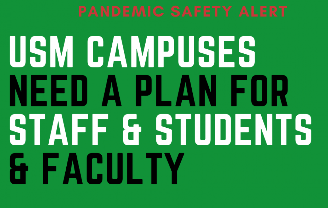 USM Needs a pandemic response for staff and students