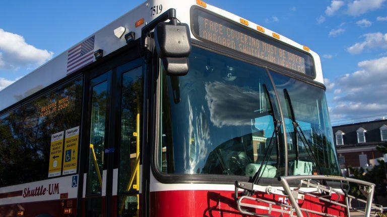 UMD Shuttle Bus (Julia Nikhinson/The Diamondback)